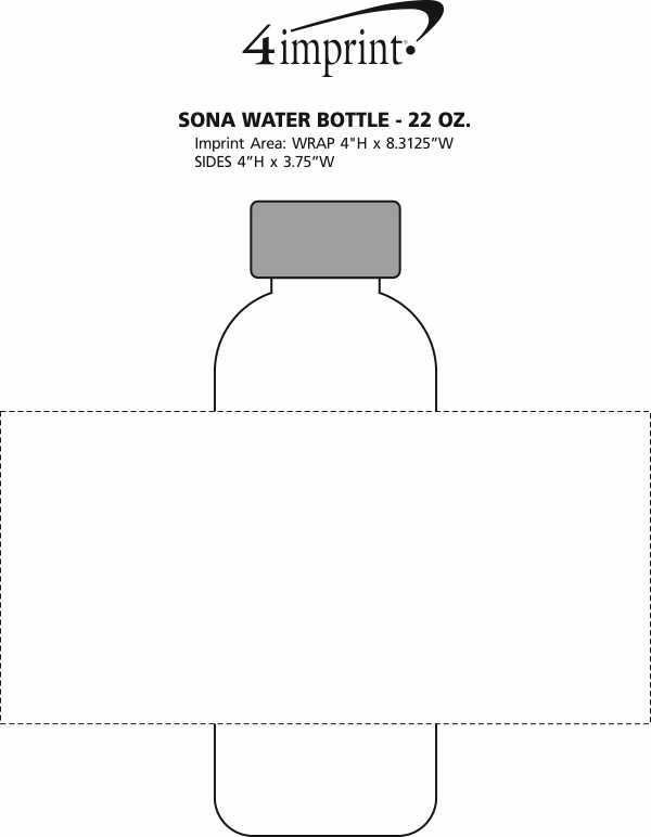 Imprint Area of Sona Water Bottle - 22 oz.
