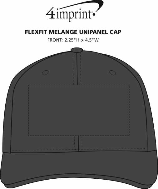 Imprint Area of Flexfit Melange Unipanel Cap