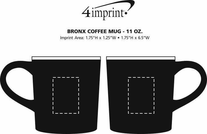 Imprint Area of Bronx Coffee Mug - 11 oz.