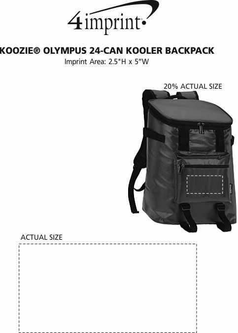 Imprint Area of Koozie® Olympus 24-Can Kooler Backpack