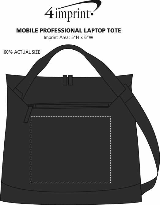 Imprint Area of Mobile Professional Laptop Tote