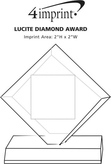 Imprint Area of Lucite Diamond Award