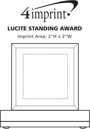 Imprint Area of Lucite Standing Award
