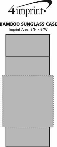 Imprint Area of Bamboo Sunglass Case