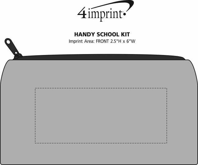 Imprint Area of Handy School Kit