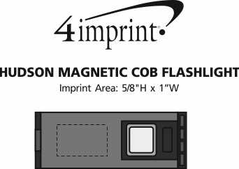 Imprint Area of Hudson Magnetic COB Flashlight