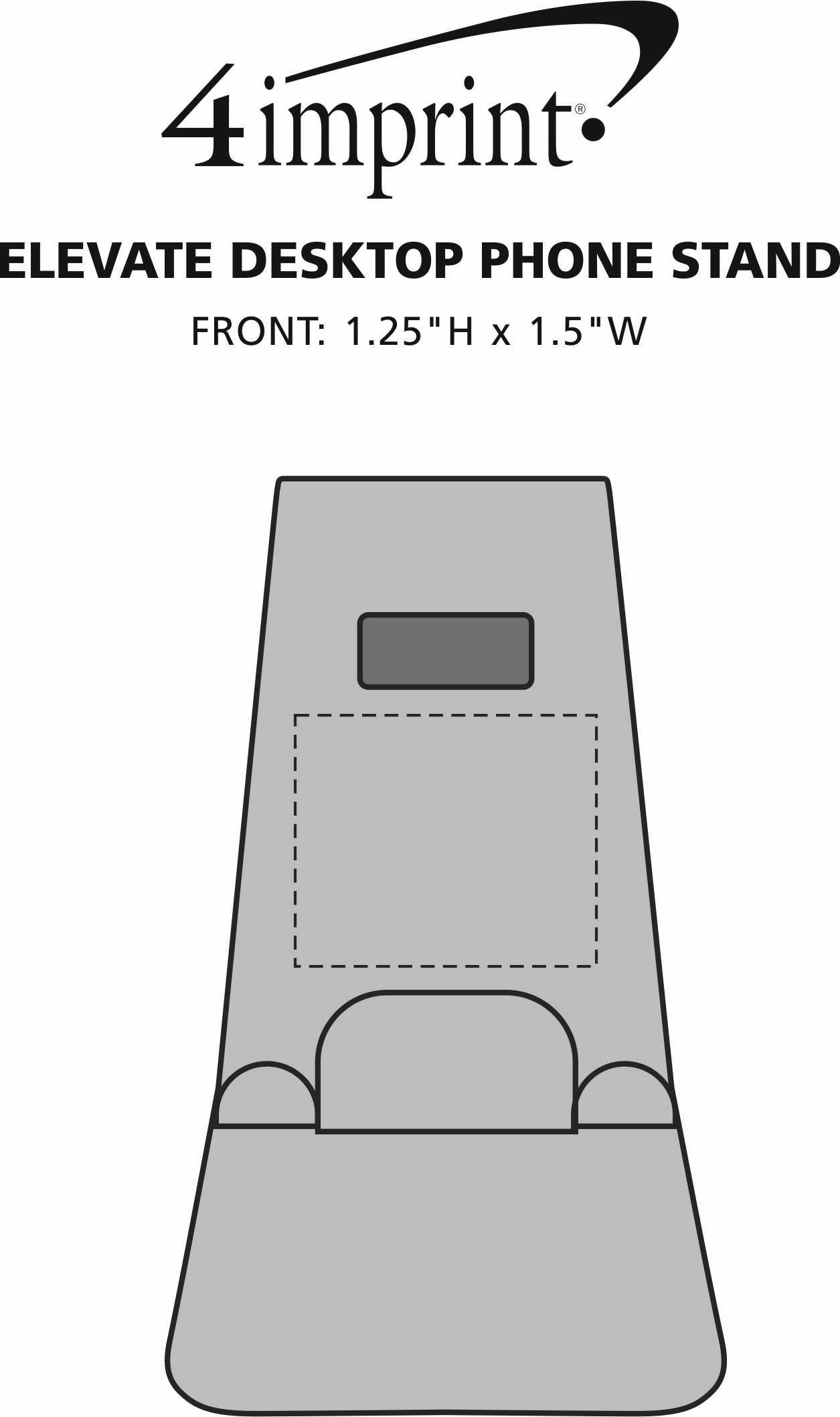 Imprint Area of Elevate Desktop Phone Stand
