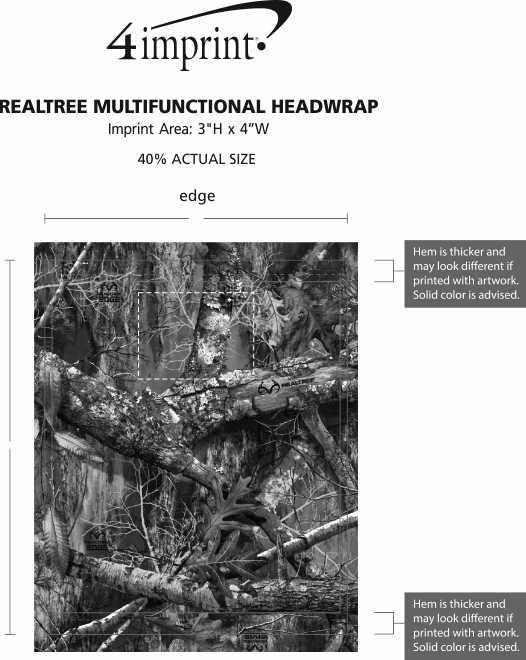Imprint Area of Realtree Multifunctional Headwrap