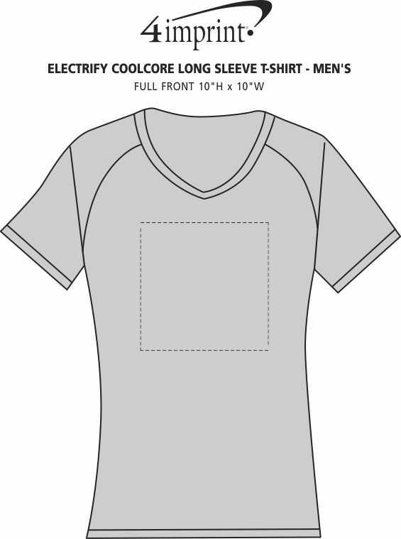 Imprint Area of Electrify Coolcore Long Sleeve T-Shirt - Men's