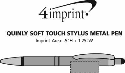 Imprint Area of Quinly Soft Touch Stylus Metal Pen