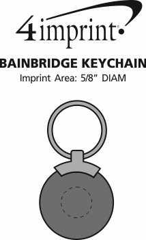 Imprint Area of Bainbridge Keychain