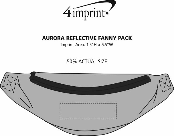 Imprint Area of Aurora Reflective Fanny Pack