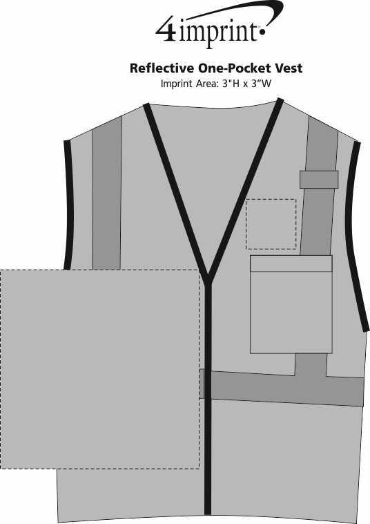 Imprint Area of Reflective One-Pocket Vest