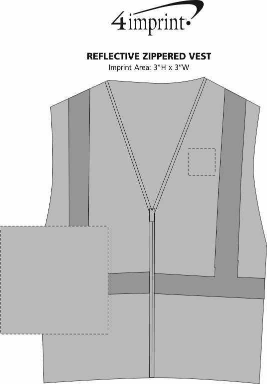 Imprint Area of Reflective Zippered Vest