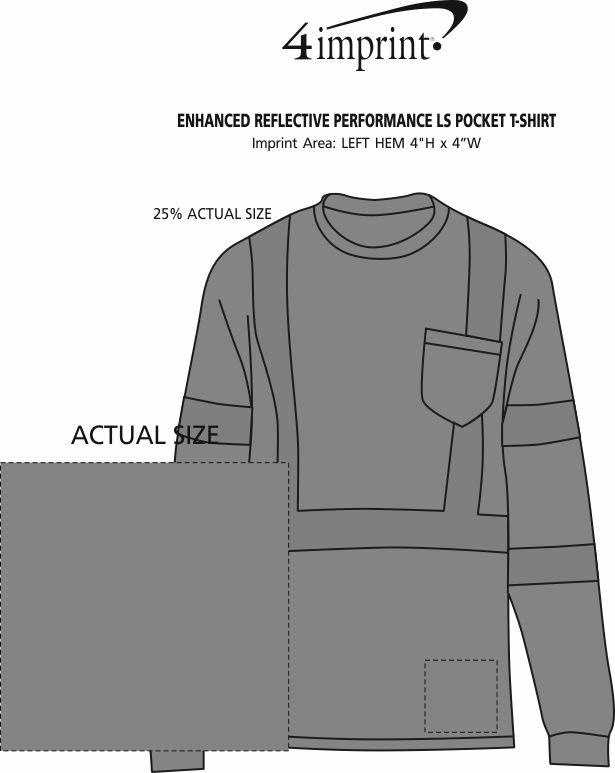 Imprint Area of Enhanced Reflective Performance LS Pocket T-Shirt