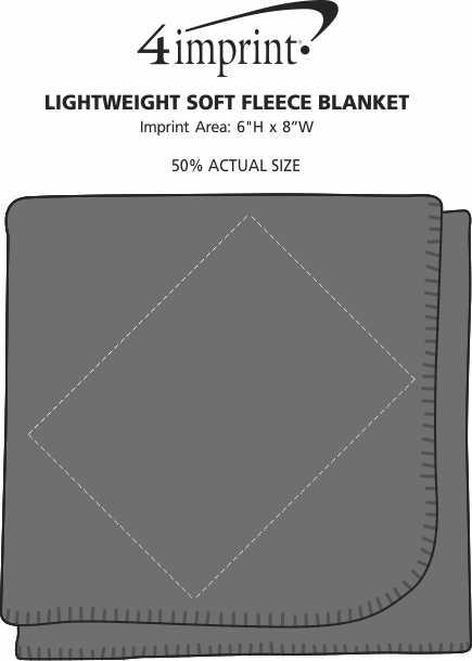 Imprint Area of Lightweight Soft Fleece Blanket