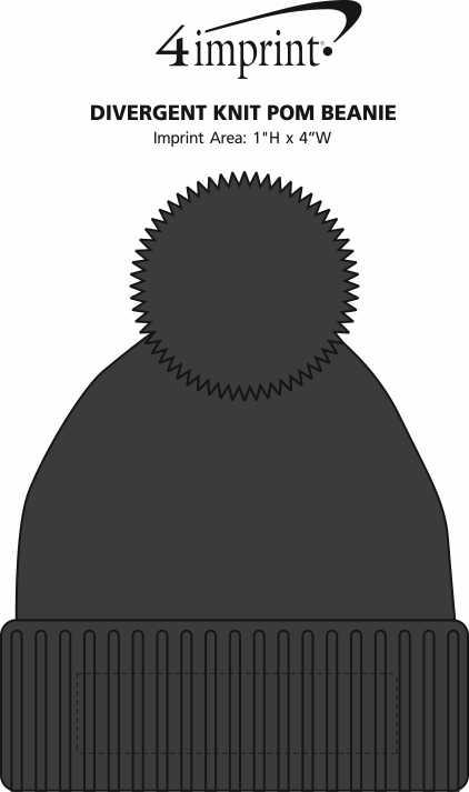 Imprint Area of Divergent Knit Pom Beanie