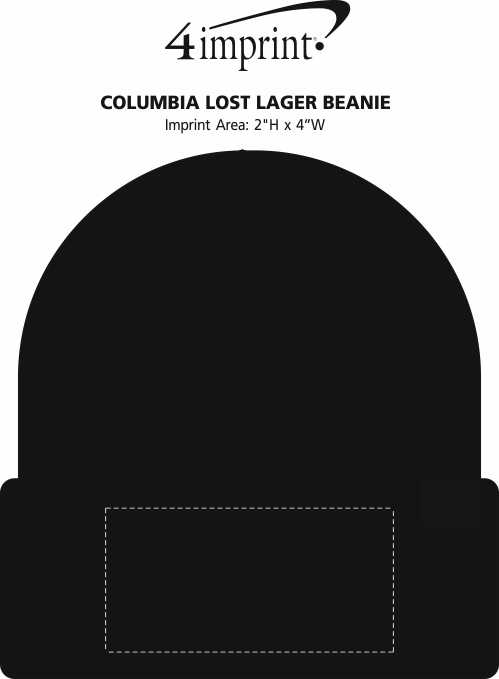 Imprint Area of Columbia Lost Lager Beanie