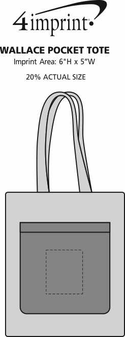 Imprint Area of Wallace Pocket Tote