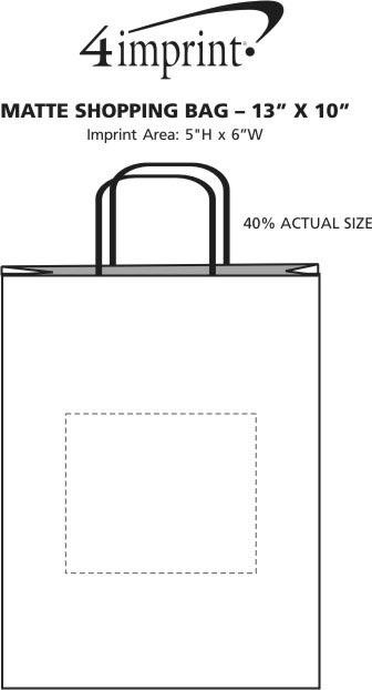 "Imprint Area of Matte Shopping Bag - 13"" x 10"""