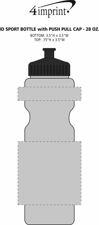 Imprint Area of ID Sport Bottle - 28 oz.