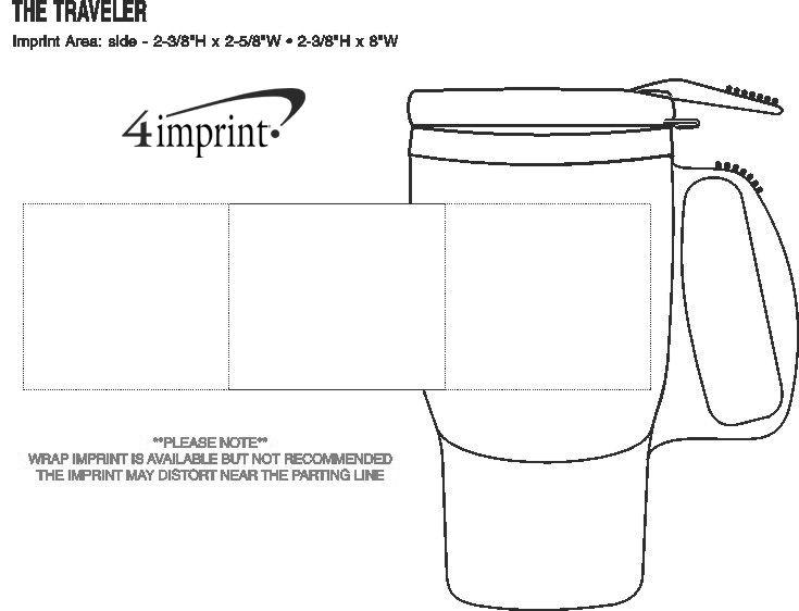 Imprint Area of The Traveler Mug - 16 oz.