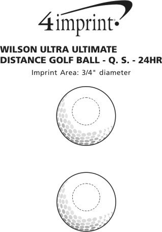 Imprint Area of Wilson Ultra Golf Ball - Dozen - 24 hr