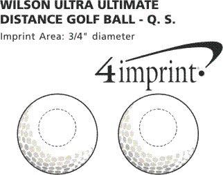 Imprint Area of Wilson Ultra Golf Ball - Dozen