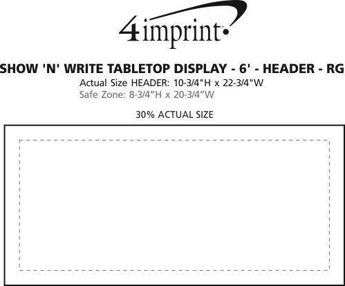 Imprint Area of Show N Write Tabletop Display - 6' - Header - Replacement Graphic