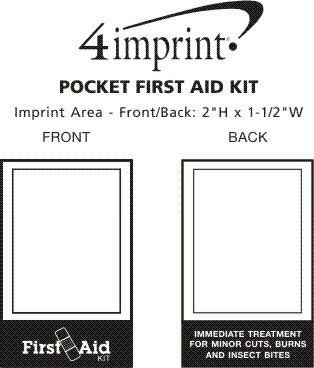 Imprint Area of First Aid Kit Pocket Pack
