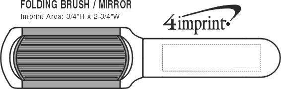 Imprint Area of Kwik-Fix Folding Brush & Mirror