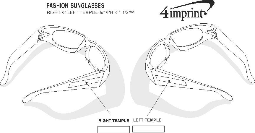 Imprint Area of Fashion Sunglasses - Black
