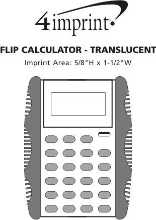 Imprint Area of Flip Calculator - Translucent