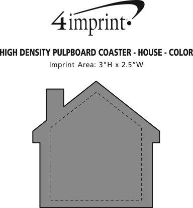 Imprint Area of High-Density Pulpboard Coaster - House - Color