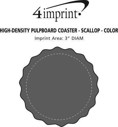 Imprint Area of High-Density Pulpboard Coaster - Scallop - Color