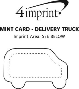 Imprint Area of Sugar-Free Mint Card - Delivery Truck