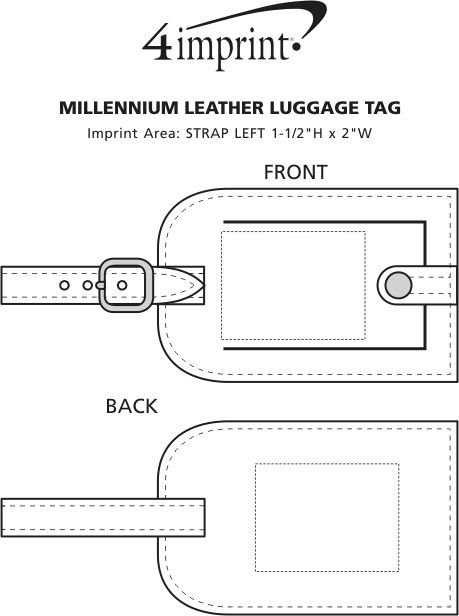 Imprint Area of Millennium Leather Luggage Tag