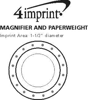 Imprint Area of Magnifier and Paperweight - Full Color