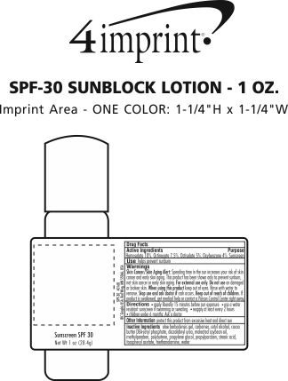 Imprint Area of SPF-30 Sunscreen Lotion - 1 oz.