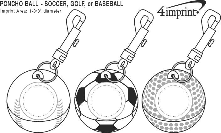 Imprint Area of Sport Ball with Rain Poncho - Golf Ball