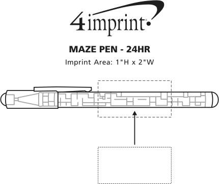 Imprint Area of Maze Pen - 24 hr