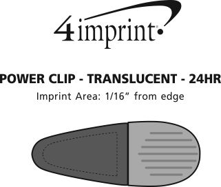 Imprint Area of Power Clip - Translucent - 24 hr