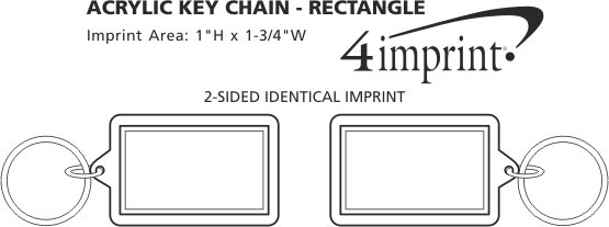 Imprint Area of Acrylic Keychain - Rectangle