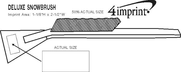 Imprint Area of Deluxe Snowbrush