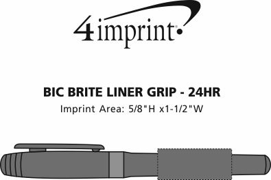 Imprint Area of Bic Brite Liner Grip - 24 hr