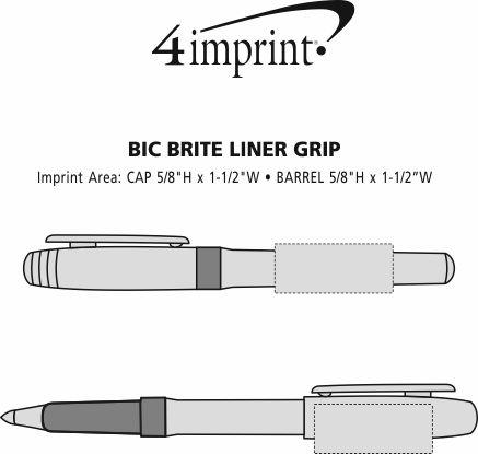 Imprint Area of Bic Brite Liner Grip