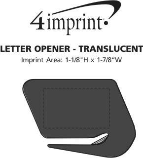 Imprint Area of Letter Opener - Translucent