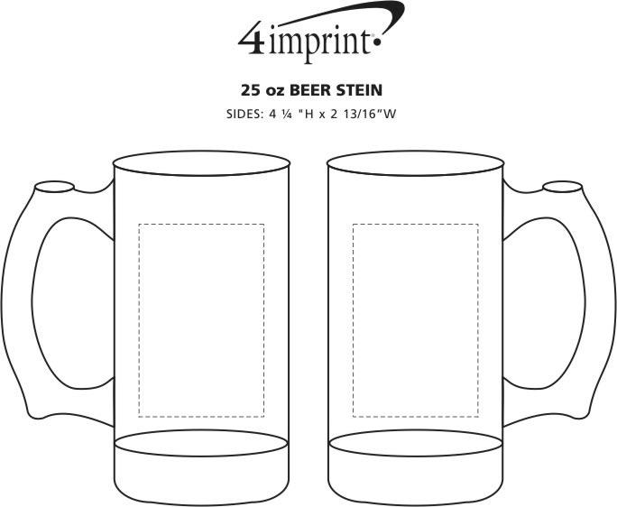 Imprint Area of Beer Stein - 25 oz.