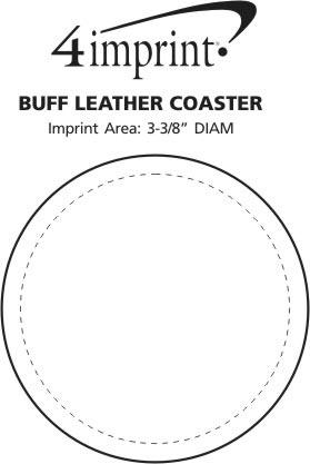 Imprint Area of Buff Leather Coaster