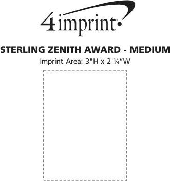 Imprint Area of Zenith Stainless Steel Award
